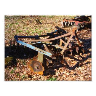 Rusty Farm Field Equipment Photo Print