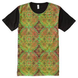 Rusty Green Kaleidoscope ~ Beautiful Reflections All-Over Print T-Shirt
