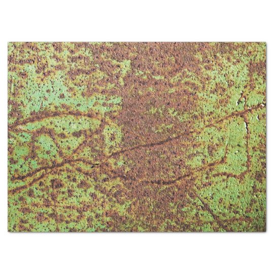 Rusty green look tissue paper