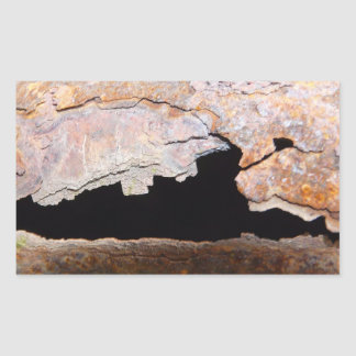 Rusty Junk Pipe Textured Rust Rectangular Sticker
