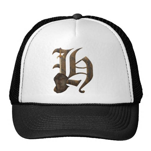 Rusty Knight Initial H Trucker Hat