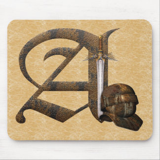 Rusty Knights Initial A Mouse Pads