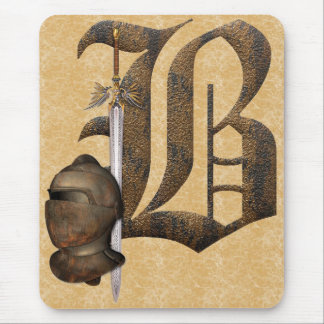 Rusty Knights Initial B Mouse Mat