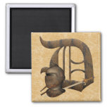 Rusty Knights Initial D Square Magnet