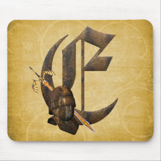 Rusty Knights Initial E Mouse Mats