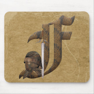 Rusty Knights Initial F Mouse Mat