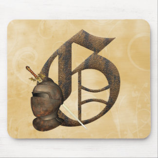 Rusty Knights Initial G Mouse Pads
