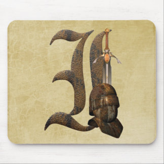 Rusty Knights Initial I Mouse Pad