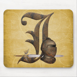 Rusty Knights Initial J Mouse Pad