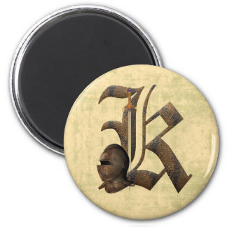 Rusty Knights Initial K Magnet
