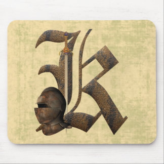 Rusty Knights Initial K Mouse Mat