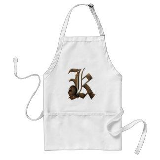 Rusty Knights Initial K Standard Apron