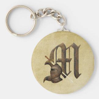 Rusty Knights Initial M Key Ring