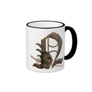 Rusty Knights Initial N Ringer Mug