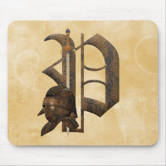 Rusty Knights Initial P Mouse Mat