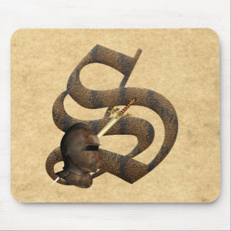 Rusty Knights Initial S Mouse Pad