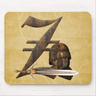 Rusty Knights Initial Z Mouse Pad