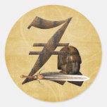 Rusty Knights Initial Z Round Sticker