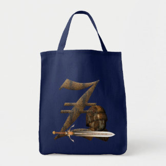 Rusty Knights Initial Z Tote Bag