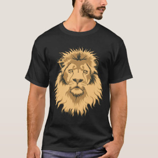 Rusty Lion Head Basic Dark T-Shirt