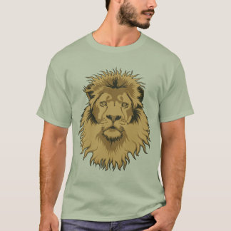 Rusty Lion Head Basic T-Shirt