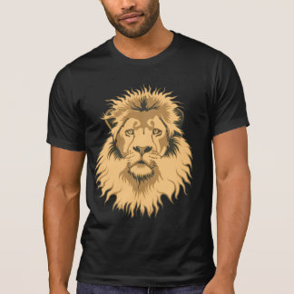 Rusty Lion Head Destroyed T-Shirt