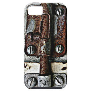 Rusty Lock Bolted Shut with Personalized Initials Case For The iPhone 5