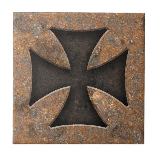 Rusty Maltese Tile