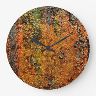 Rusty Metal Abstract Grunge Art Large Clock