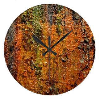 Rusty Metal Abstract Grunge Art Wallclock