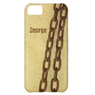 Rusty metal chains for maximum security iPhone 5C case