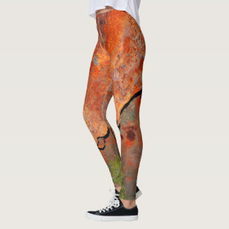 Rusty Metal Leggings Rust Green Patina
