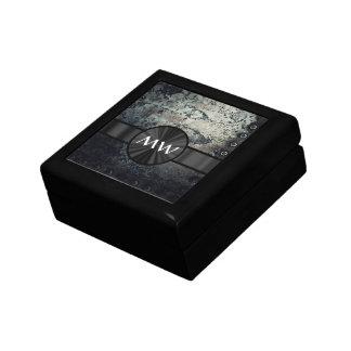 Rusty metal monogram gift box
