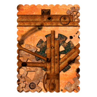 Rusty metal pipes 13 cm x 18 cm invitation card