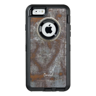 Rusty Metal Steampunk with Name Cool OtterBox iPhone 6/6s Case