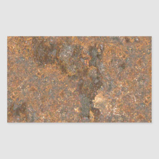 Rusty Metal Texture Rectangular Sticker