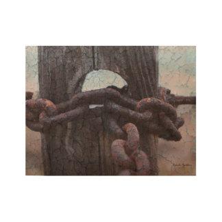 Rusty Nautical Chain Wood Poster