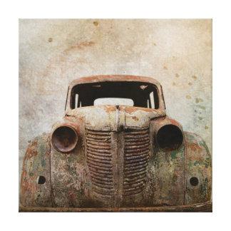 Rusty Old Antique Car Canvas Print