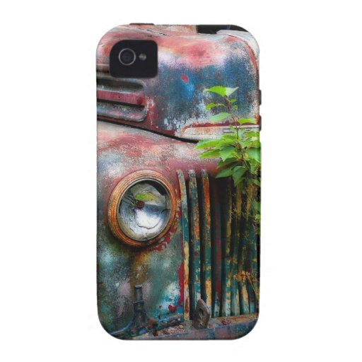 Rusty Old Antique Truck Vibe iPhone 4 Cover