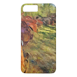Rusty Old Cars and Trucks Abstract Impressionism iPhone 7 Plus Case