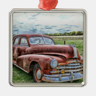 Rusty Old Classic Car Vintage Automobile Christmas Ornament