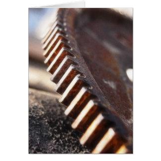 Rusty Old Cog Wheel Card
