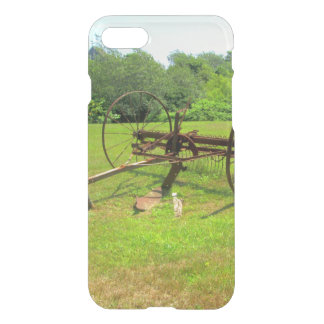 Rusty Old Farm Equipment iPhone 7 Case