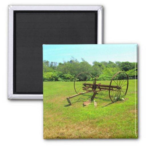 Rusty Old Farm Equipment Magnets