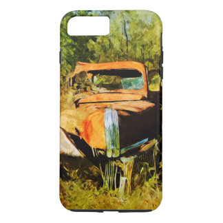 Rusty Old Orange Truck Abstract Impressionism iPhone 7 Plus Case