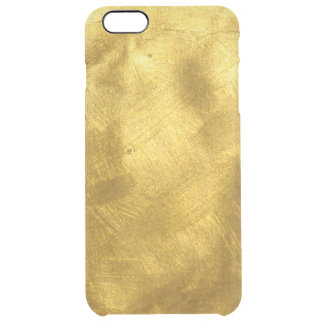Rusty Pure Gold Texture Pattern Clear iPhone 6 Plus Case