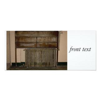 Rusty Radiator (Room Heater) at Alcatraz Prison 10 Cm X 24 Cm Invitation Card