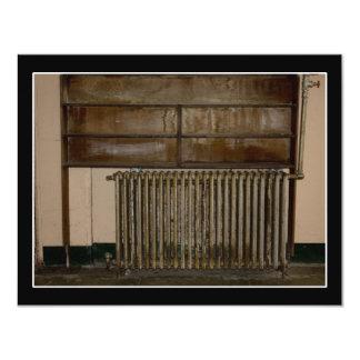 Rusty Radiator (Room Heater) at Alcatraz Prison 11 Cm X 14 Cm Invitation Card