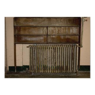 Rusty Radiator (Room Heater) at Alcatraz Prison 13 Cm X 18 Cm Invitation Card