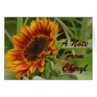 Rusty Red Sunflower Card
